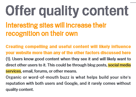 Google's SEO Starter Guide gives advice about content for SEO, but not much about content marketing.